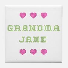 Grandma Jane Tile Coaster