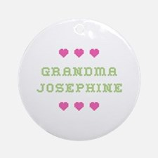 Grandma Josephine Round Ornament