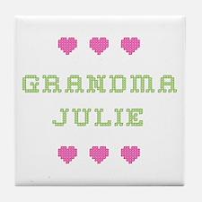Grandma Julie Tile Coaster