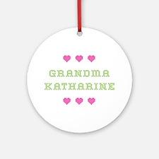 Grandma Katharine Round Ornament