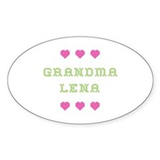 Grandma Lena Oval Decal