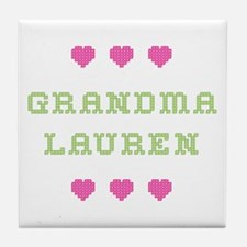 Grandma Lauren Tile Coaster
