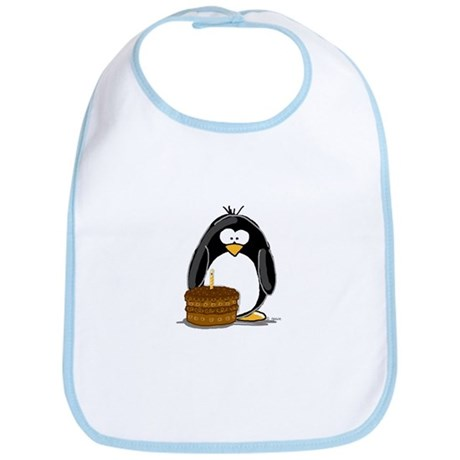 Chocolate Birthday Cake Pengu Bib