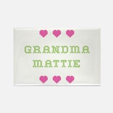 Grandma Mattie Rectangle Magnet