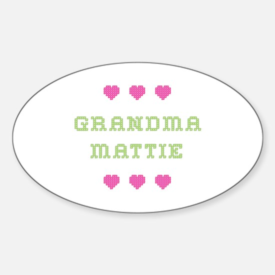 Grandma Mattie Oval Decal