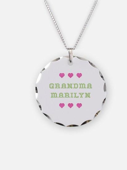 Grandma Marilyn Necklace Circle Charm