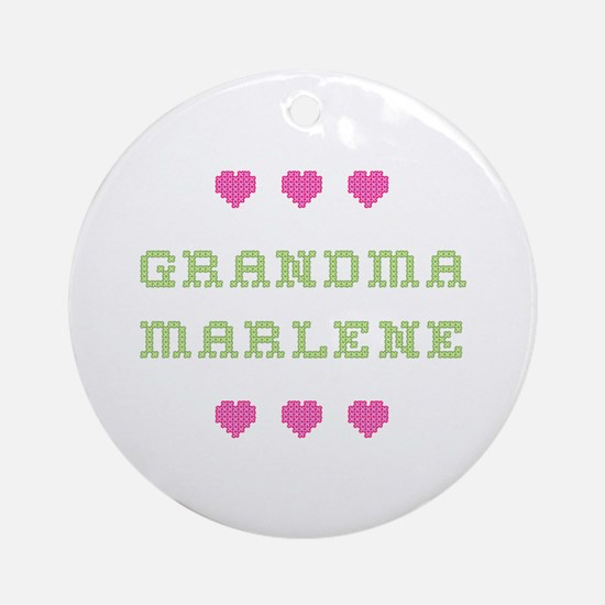 Grandma Marlene Round Ornament