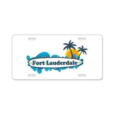 Fort Lauderdale - Surf Design. Aluminum License Pl