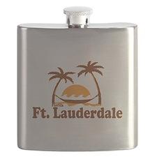 Fort Lauderdale - Palm Trees Design. Flask