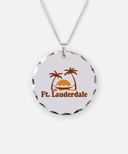 Fort Lauderdale - Palm Trees Design. Necklace