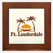 Fort Lauderdale - Palm Trees Design. Framed Tile