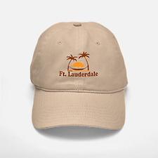 Fort Lauderdale - Palm Trees Design. Baseball Baseball Cap