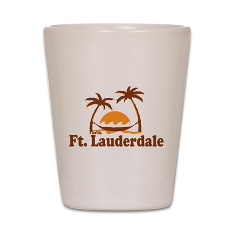 Fort Lauderdale - Palm Trees Design. Shot Glass