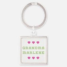 Grandma Marlene Square Keychain