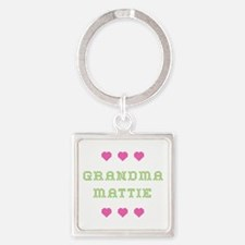 Grandma Mattie Square Keychain