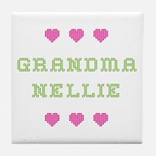 Grandma Nellie Tile Coaster