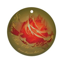 Lo, How a Rose e'er Blooming Ornament (Round)