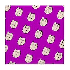 Purple Ditto Hippo Mirage Designer Tile Coaster