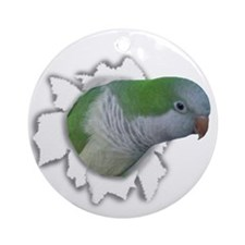 Ripping Quaker Parakeet Ornament (Round)