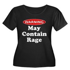 Warning May Contain Rage Plus Size T-Shirt