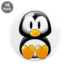 """Adorable Penquin 3.5"""" Button (10 pack)"""