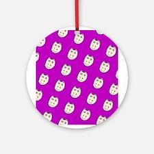Purple Ditto Hippo Mirage Designer Ornament (Round