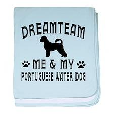 Portuguese Water Dog Designs baby blanket
