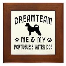 Portuguese Water Dog Designs Framed Tile