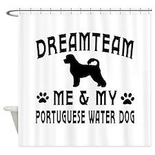 Portuguese Water Dog Designs Shower Curtain