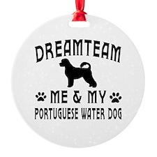 Portuguese Water Dog Designs Ornament