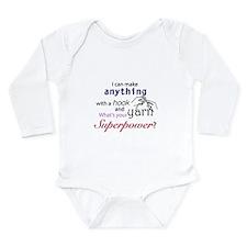 Crochet Superhero Long Sleeve Infant Bodysuit