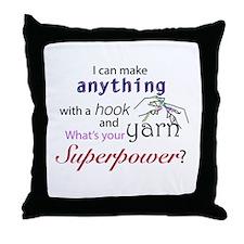 Crochet Superhero Throw Pillow