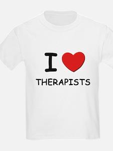 I Love therapists Kids T-Shirt