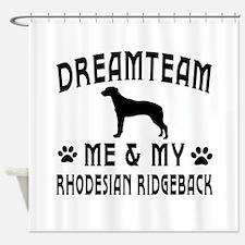 Rhodesian Ridgeback Dog Designs Shower Curtain