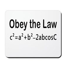 Obey the Law _ Law of Cosines Mousepad