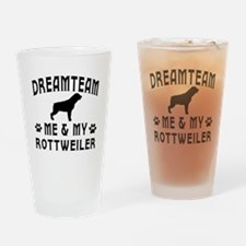 Rottweiler Dog Designs Drinking Glass