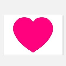Hot Pink Heart Postcards (Package of 8)