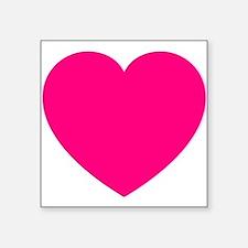 Hot Pink Heart Sticker