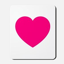 Hot Pink Heart Mousepad