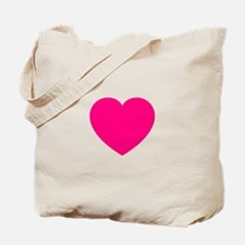 Hot Pink Heart Tote Bag