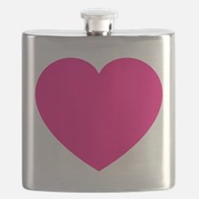 Hot Pink Heart Flask