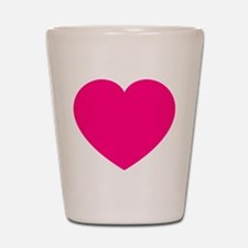 Hot Pink Heart Shot Glass