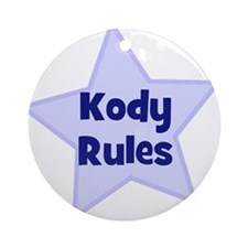 Kody Rules Ornament (Round)