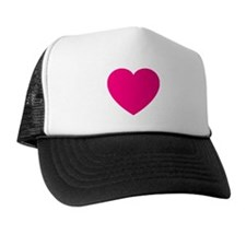 Hot Pink Heart Trucker Hat