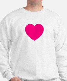 Hot Pink Heart Sweatshirt