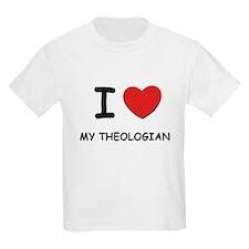 I Love theologians Kids T-Shirt