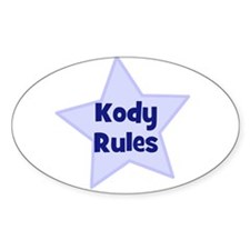 Kody Rules Oval Decal