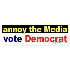 Annoy the Media Bumper Bumper Sticker