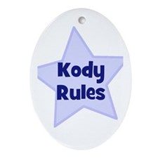 Kody Rules Oval Ornament