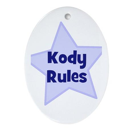 Kody Rules Oval Ornament
